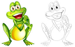 Doodle animal for little frog Royalty Free Stock Photos