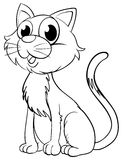 Doodle animal for little kitten Royalty Free Stock Images