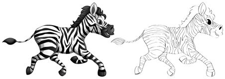 Doodle animal for zebra Royalty Free Stock Images