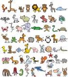 Doodle animals Royalty Free Stock Image