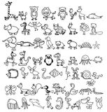 Doodle animals Royalty Free Stock Photos