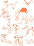 Doodle Animals Stock Image