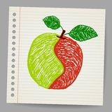 Doodle apple collage Royalty Free Stock Photography