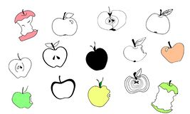 Doodle apples royalty free illustration