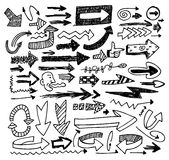 Doodle arrow set Royalty Free Stock Image
