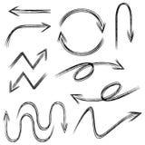 Doodle arrow Stock Image