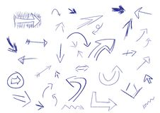 Doodle Arrows Royalty Free Stock Photos