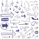 Doodle Arrows. Various arrows drawn in a doodled style Stock Images