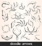 Doodle arrows Stock Image