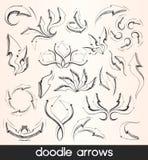 Doodle arrows Stock Image