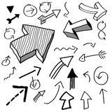 Doodle arrows. Various arrows drawn in doodled style Royalty Free Stock Image