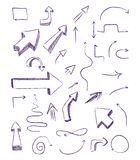 Doodle arrows as design elements Royalty Free Stock Photography