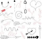 Doodle  arrows,vector Royalty Free Stock Photography