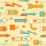 Doodle arrows pattern Stock Photos