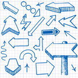 Doodle Arrows. Seamless background. Stock Image