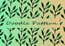 Doodle Art Plant - Dark gradient - creative texture Stock Images