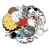 Doodle art vector, illustration Royalty Free Stock Photo