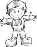 Doodle Astronaut Vector Royalty Free Stock Photography