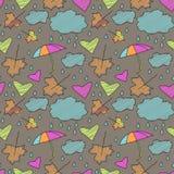 Doodle autumn pattern Royalty Free Stock Photo