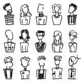 Doodle avatar Stock Photos