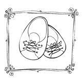 Doodle Baby arrival card Royalty Free Stock Photography