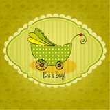 Doodle Baby arrival card Stock Image