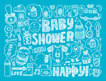Doodle baby background Stock Photos