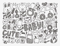 Doodle baby background Royalty Free Stock Photography