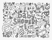 Doodle baby background Royalty Free Stock Photo