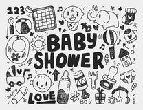 Doodle baby background Stock Images