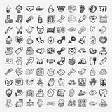 Doodle baby icon sets Royalty Free Stock Photos