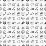 Doodle baby icon sets Stock Image