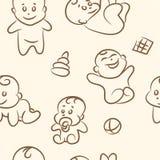 Doodle baby set .Seamless pattern . Vector. Doodle baby set .Seamless pattern. Vector EPS10 royalty free illustration