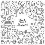 Doodle Baby Shower Stock Photography