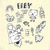 Doodle Baby Toy Stock Images
