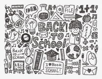 Doodle back to school background royalty free illustration