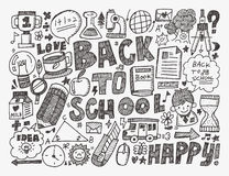 Doodle back to school background Stock Photography