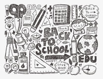 Doodle back to school background Royalty Free Stock Photography