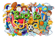 Doodle on Back to School concept Royalty Free Stock Image