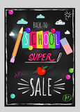 Doodle Back To School Lettering Poster Stock Photography