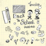 Doodle Back to School on Paper Royalty Free Stock Images
