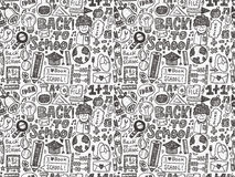 Doodle back to school seamless pattern Stock Photo