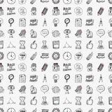 Doodle back to school seamless pattern Stock Photos