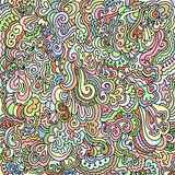 Doodle background. Abstract hand drawn background of swirls and flowers stock illustration