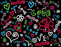 Doodle background. Image of a cool  doodle background Royalty Free Stock Image