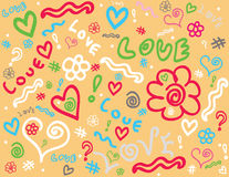 Doodle  background. Image of a  doodle background Royalty Free Stock Photos