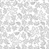 Doodle background from autumn leaves Stock Photography