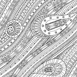 Doodle background in vector with ethnic pattern. Royalty Free Stock Photos