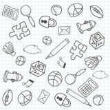 Doodle Background. Vector Illustration Stock Images