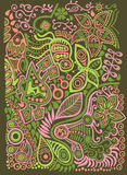 Doodle background. Vector doodle nature Stock Photo